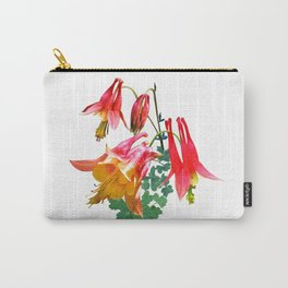 Wild Columbine, Aquilegia canadensis Carry-All Pouch