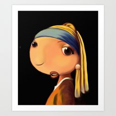 Girl with a Pearl Earring Art Print