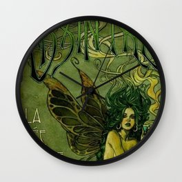 Vintage Parisian Green Fairy Absinthe Alcoholic Aperitif Advertisement Poster Wall Clock