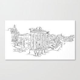 Ancient Rome roman forum Canvas Print
