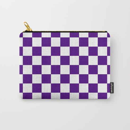 Checker (Indigo/White) Carry-All Pouch