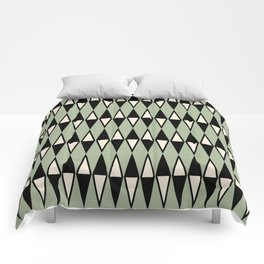 Mid Century Modern Diamond Pattern Sage Green 234 Comforters