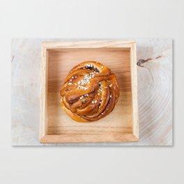 Cinnamon bun Canvas Print