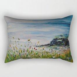 Red sails, Galway Bay Rectangular Pillow