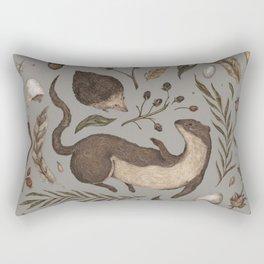 Weasel and Hedgehog Rectangular Pillow
