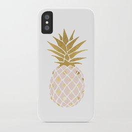 pink & gold pineapple iPhone Case