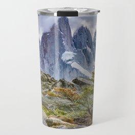 Snowy Mountains at Laguna Torre El Chalten Argentina Travel Mug