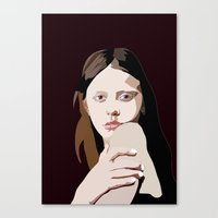 goth Canvas Prints featuring Mia Goth by Anna McKay