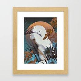 Golden Tropical Garden Framed Art Print