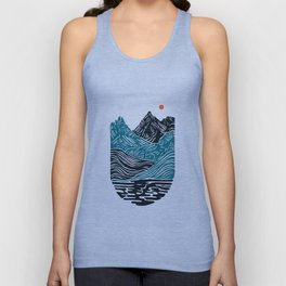 ABSTRACTED LANDSCAPE Unisex Tank Top