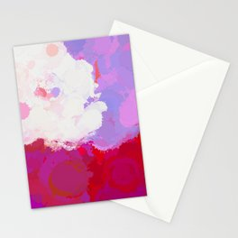 Purple watercolor abstract splatter Stationery Cards