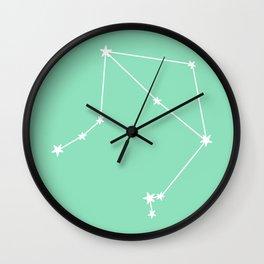 Libra (White & Mint Sign) Wall Clock