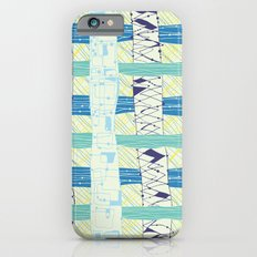 Doodled Checks Slim Case iPhone 6s