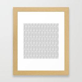 Minimal Gray Leaves Framed Art Print