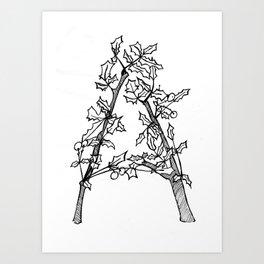 "Native Texas Plants ""A"" Art Print"