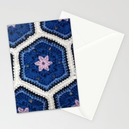 African Flower Crochet Art Stationery Cards