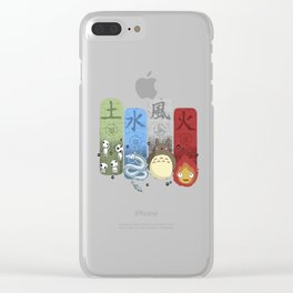 Ghibli Elemental Charms Clear iPhone Case