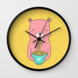 Noodle Bear Wall Clock