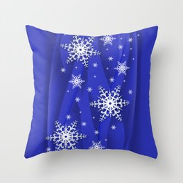 Abstract background with snowflakes Throw Pillow