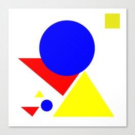Bauhaus geometric shapes modern art Canvas Print