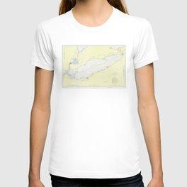 Vintage Map of Lake Erie (1955) T-shirt