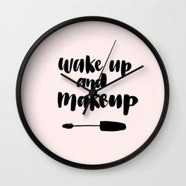 Wake up and Makeup Art Wall Clock
