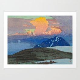 Yoshida Hiroshi Japan Alps  Vintage Beautiful Japanese Woodblock Print Hiroshi Yoshida Kunstdrucke