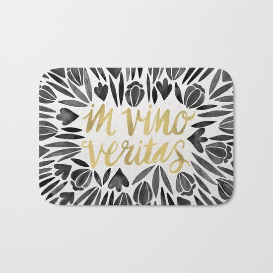 In Wine, There is Truth – Black & Gold Bath Mat