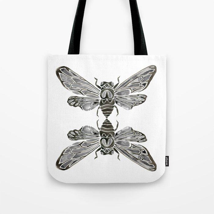 Summer Cicada – Black Palette Tote Bag