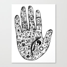 Hand Of Wisdom by Ane Teruel Canvas Print