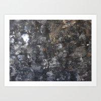 concrete Art Prints featuring Concrete by Crimson-daisies