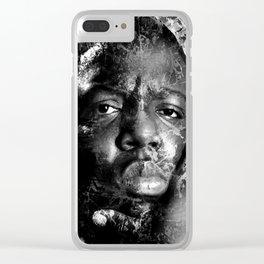 BIGGIE TRIBUTE (BLACK & WHITE VERSION) Clear iPhone Case