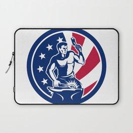 American Farrier USA Flag Icon Laptop Sleeve