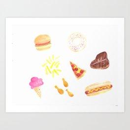 Celebrate National Junk Food Day Everyday Art Print