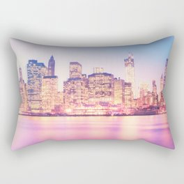 New York City Skyline - Lights Rectangular Pillow