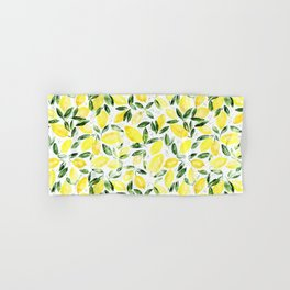 So luscious lemons || watercolor Hand & Bath Towel
