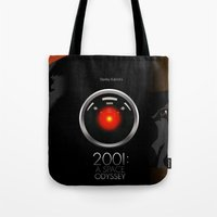 2001 Tote Bags featuring 2001 - A space odyssey by Martin Woutisseth