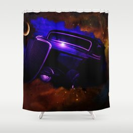 Blue Galaxy Hotrod Shower Curtain