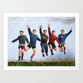 Busby Babes in colour Art Print