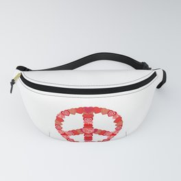 Valentine's Day Hearts Peace Sign Fanny Pack