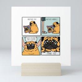 Another Wrinkle Pug Mini Art Print