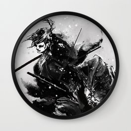 Taiko - Dance of the swords Wall Clock