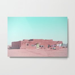 Moroccan Home in Pink Metal Print