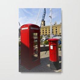 Phone and Post Box Metal Print