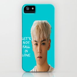 Bigbang MADE Let's Not Fall In Love T.O.P iPhone Case