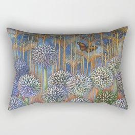 Echinops-Globe Thistle with Monarch Rectangular Pillow