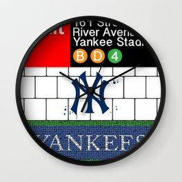 NYC Yankees Subway Wall Clock