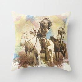 Sioux Chiefs Throw Pillow