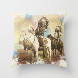 Sioux Chiefs Throw Pillow