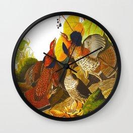 Ruffed Grouse Bird Wall Clock